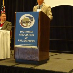 SWARS President Dale Diulus opens the meeting on March 5.